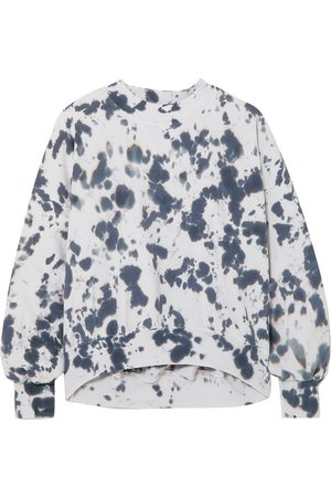 BASSIKE Woman Cutout Tie-dyed French Cotton-terry Sweatshirt Off- Size XS/S