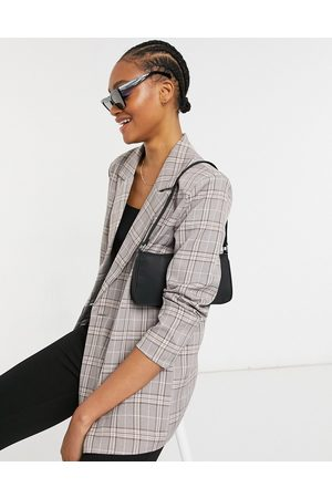 Urban Threads Oversized double breasted blazer in heritage check-Multi