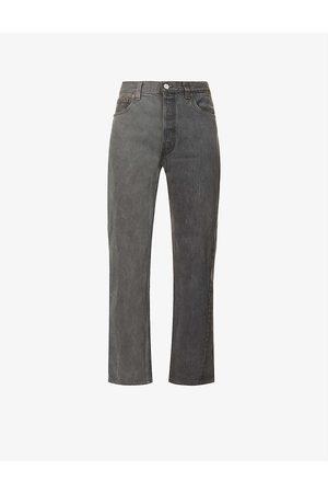 EB Denim Upcycled Winona wide-leg high-rise cotton denim jeans