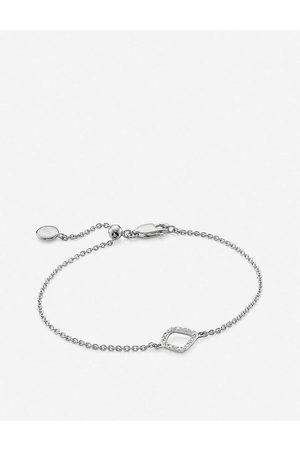 Monica Vinader Riva Mini Kite sterling diamond bracelet