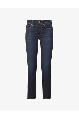 7 for all Mankind Roxanne B(air) skinny mid-rise jeans