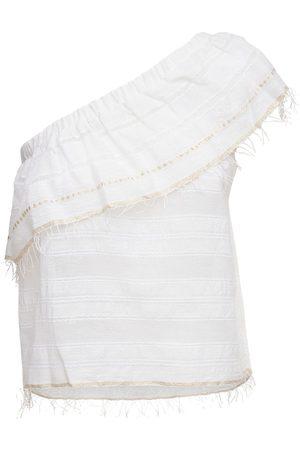 Lemlem Kelali One Shoulder Cotton Top