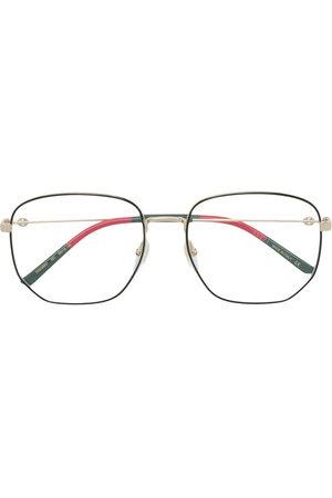 Gucci Sunglasses - Web detail hexagonal-frame glasses