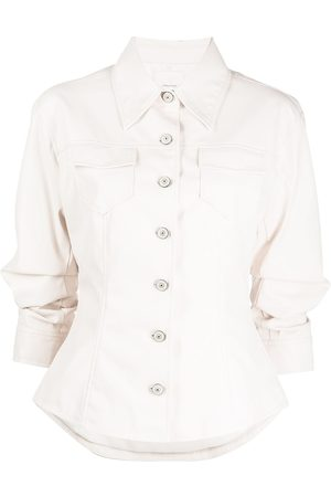 Cinq A Sept Scrunched fitted jacket - Neutrals