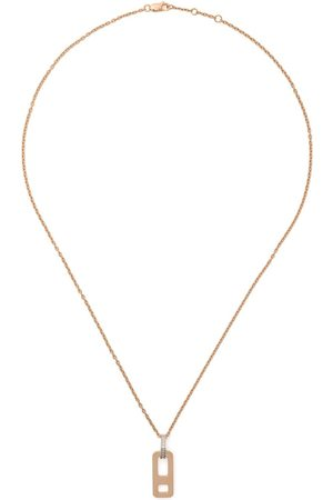 AS29 Women Necklaces - 18kt rose DNA small diamond necklace