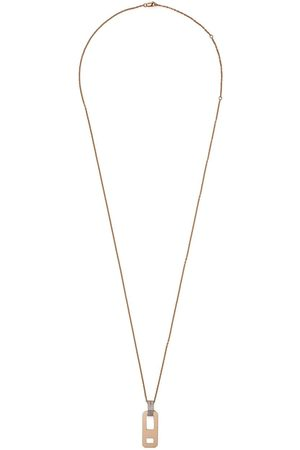 AS29 18kt rose DNA diamond necklace