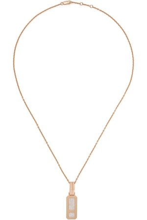 AS29 18kt rose DNA full diamond necklace