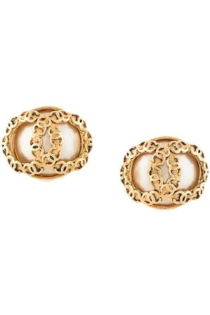 CHANEL Women Earrings - 1994 CC pearl-embellished clip-on earrings