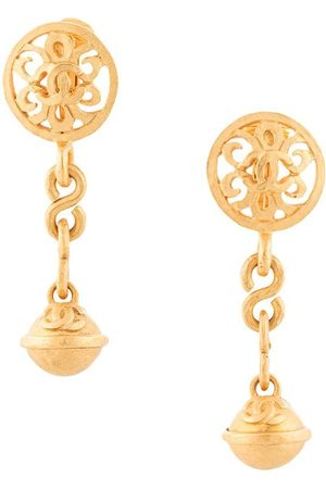 CHANEL Women Necklaces - 1995 bell motif dangling clip-on earrings