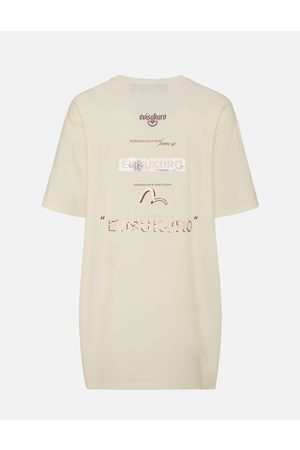 Evisu Women T-shirts - Ukiyo-E Infused Logo Label Print Oversized T-shirt