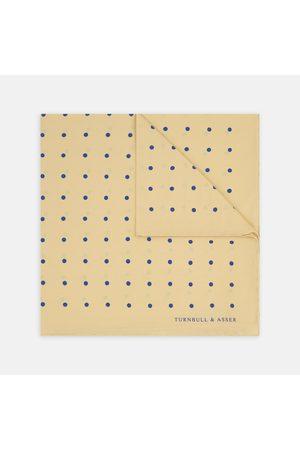 Turnbull & Asser Men Pocket Squares - And Spot Silk Pocket Square