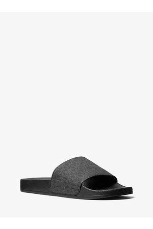 Michael Kors Men Casual Shoes - MK Jake Logo Slide Sandal - - Michael Kors