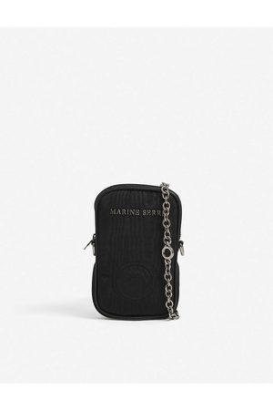 Marine Serre Logo-embossed woven phone pouch