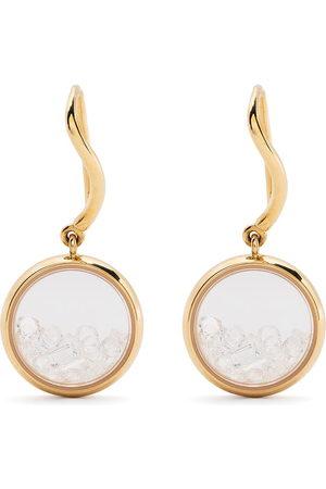 adidas 18kt yellow diamond Chivor drop earrings