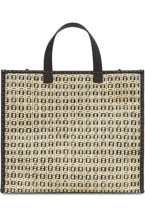 Fendi Two-tone FF-logo tote bag - Neutrals