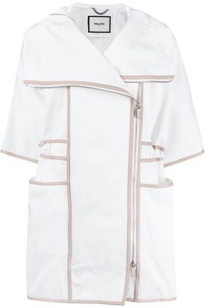 MAX & MOI Panelled short-sleeve coat