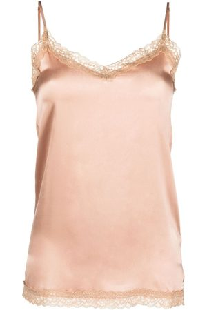 MAX & MOI Women Tank Tops - Lace-trim camisole top - Neutrals