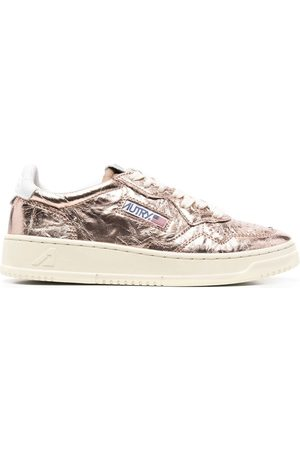 Autry Crinkled metallic sneakers
