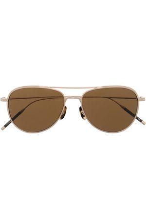 Oliver Peoples TK-2 aviator-frame sunglasses