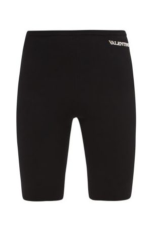 VALENTINO Logo-embroidered Jersey Cycling Shorts - Womens