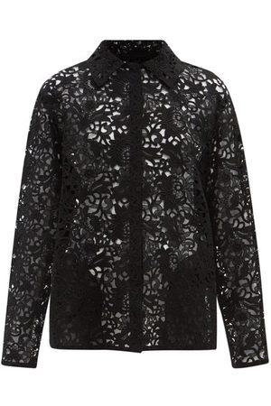 VALENTINO Women Shirts - Macramé-lace Shirt Jacket - Womens