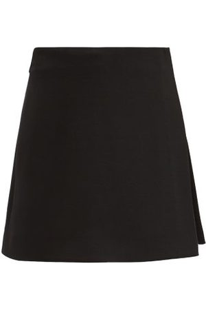 VALENTINO Wool-blend Crepe Couture Mini Skort - Womens
