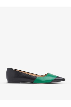 LK Bennett Posey pointed-toe leather ballet flats