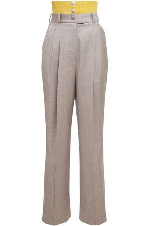 Peter Do Technical Wool Gabardine Tailored Pants