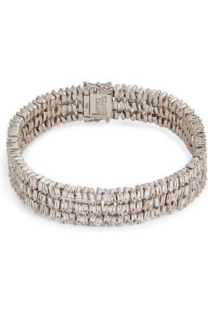 Suzanne Kalan Gold and Diamond Fireworks Tennis Bracelet