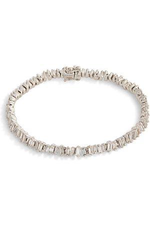 Suzanne Kalan Gold and Diamond Fireworks Three-Row Tennis Bracelet