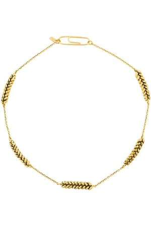 Aurélie Bidermann Gold-plated leaf-pendant necklace - Metallic