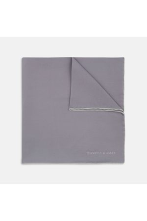 Turnbull & Asser Men Pocket Squares - And Piped Silk Pocket Square