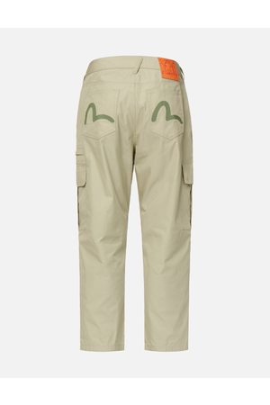 Evisu Seagull Print Cargo Pants