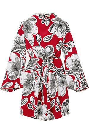 STINE GOYA Women Printed Dresses - Woman Jacob Floral-print Silk-crepe Mini Dress Size L