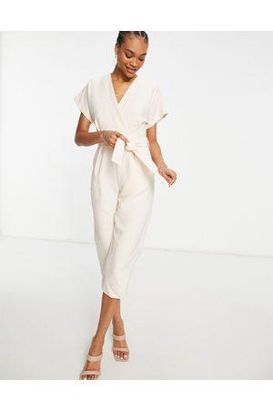 Closet Wrap waist kimono sleeve jumpsuit in -Neutral
