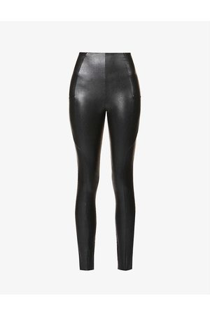 Commando Fitted high-rise faux-leather leggings