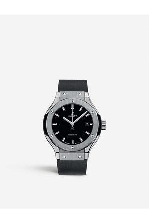 HUBLOT Mens and Classic Fusion 582.Nx.1170.Rx Titanium Watch