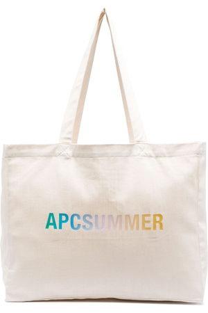 A.P.C. Diane logo-print tote bag - Neutrals