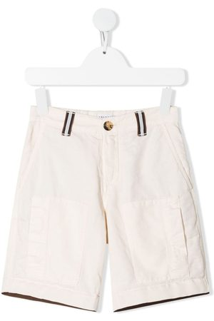 Brunello Cucinelli Kids Straight-leg cargo shorts - Neutrals