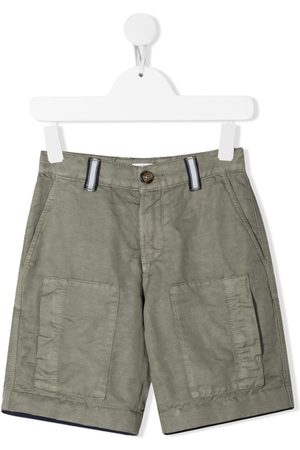 Brunello Cucinelli Kids Boys Straight - Straight-leg cargo shorts