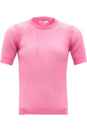 Cecilie Bahnsen Fabienne High-neck Ribbed Sweater - Womens