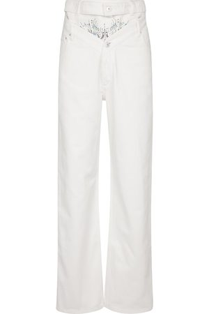 Y / PROJECT Embellished high-rise straight jeans