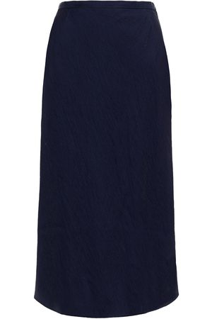 Baum und Pferdgarten Woman Moire Midi Skirt Navy Size 34