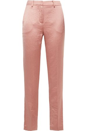 Bash Woman Hammered-satin Slim-leg Pants Antique Rose Size 0
