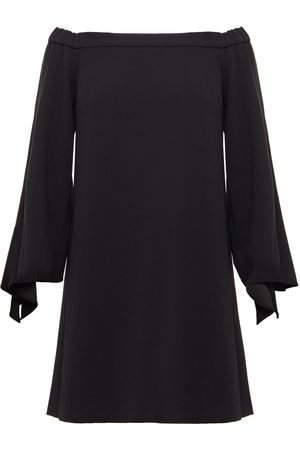 tibi Woman Off-the-shoulder Tie-detailed Stretch-crepe Mini Dress Size 4