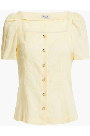 BAUM UND PFERDGARTEN Woman Magali Gathered Linen Top Pastel Size 34