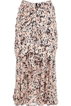 Proenza Schouler Women Printed Skirts - Woman Twist-front Gathered Printed Crepe Skirt Pastel Size 4