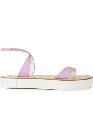 tibi Woman Leather Platform Sandals Lavender Size 35.5