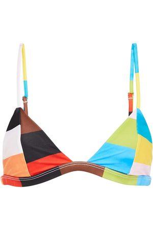 Mara Hoffman Woman Color-block Triangle Bikini Top Multicolor Size L