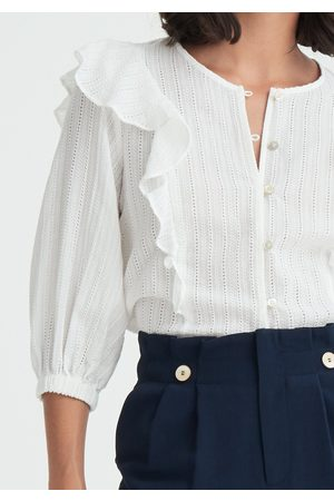 Paisie Saint Broderie Frilled Blouse